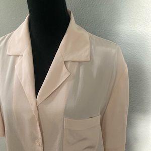 Nygard Collection 100% silk button down blouse L
